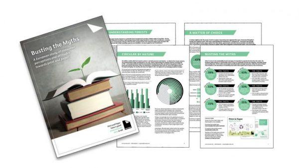 Die neuesten Two Sides Umfrage-Ergebnisse zeigen: Print ist beliebt aber die Umweltmythen über Papier halten sich