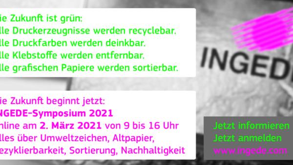 INGEDE-Symposium am 2. März 2021 – Online